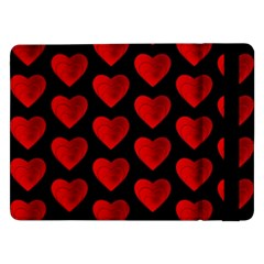 Heart Pattern Red Samsung Galaxy Tab Pro 12.2  Flip Case