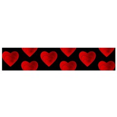 Heart Pattern Red Flano Scarf (small)