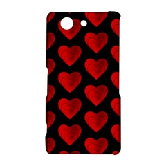 Heart Pattern Red Sony Xperia Z3 Compact