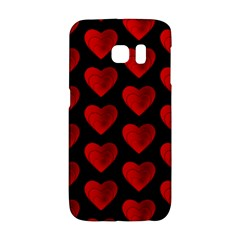 Heart Pattern Red Galaxy S6 Edge