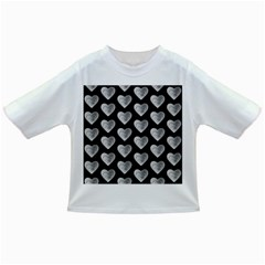 Heart Pattern Silver Infant/toddler T Shirts