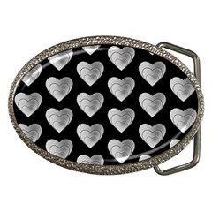 Heart Pattern Silver Belt Buckles