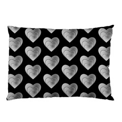 Heart Pattern Silver Pillow Cases