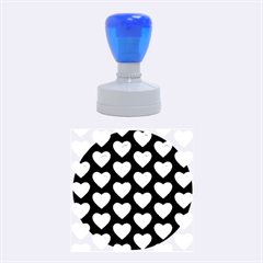 Heart Pattern Silver Rubber Round Stamps (Medium)