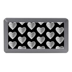 Heart Pattern Silver Memory Card Reader (mini)
