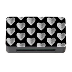 Heart Pattern Silver Memory Card Reader With Cf