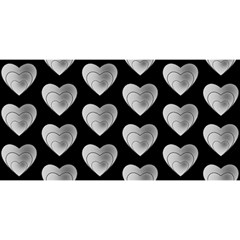 Heart Pattern Silver YOU ARE INVITED 3D Greeting Card (8x4)