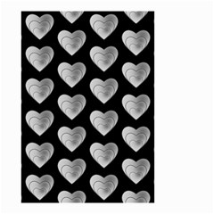 Heart Pattern Silver Small Garden Flag (Two Sides)