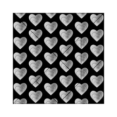 Heart Pattern Silver Acrylic Tangram Puzzle (6  x 6 )