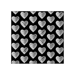 Heart Pattern Silver Acrylic Tangram Puzzle (4  x 4 )