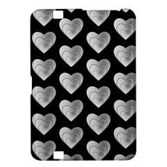 Heart Pattern Silver Kindle Fire HD 8.9