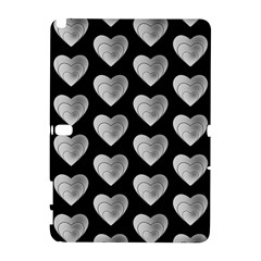 Heart Pattern Silver Samsung Galaxy Note 10.1 (P600) Hardshell Case