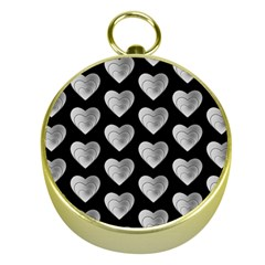Heart Pattern Silver Gold Compasses