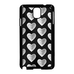 Heart Pattern Silver Samsung Galaxy Note 3 Neo Hardshell Case (black)