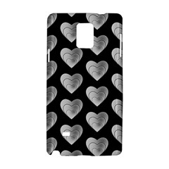 Heart Pattern Silver Samsung Galaxy Note 4 Hardshell Case