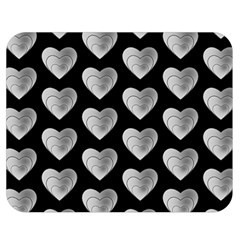 Heart Pattern Silver Double Sided Flano Blanket (medium)