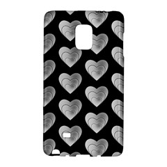 Heart Pattern Silver Galaxy Note Edge