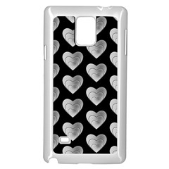 Heart Pattern Silver Samsung Galaxy Note 4 Case (White)