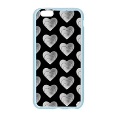 Heart Pattern Silver Apple Seamless iPhone 6 Case (Color)