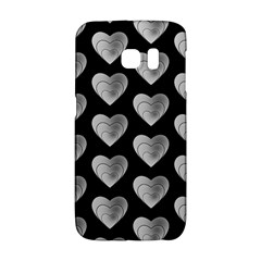 Heart Pattern Silver Galaxy S6 Edge