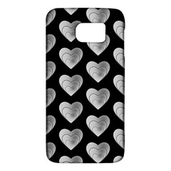 Heart Pattern Silver Galaxy S6