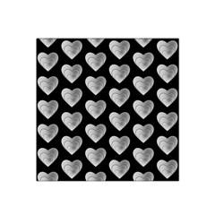 Heart Pattern Silver Satin Bandana Scarf