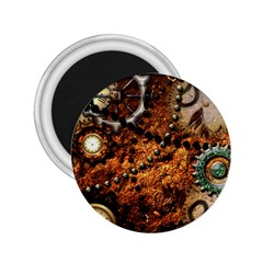 Steampunk In Noble Design 2.25  Magnets