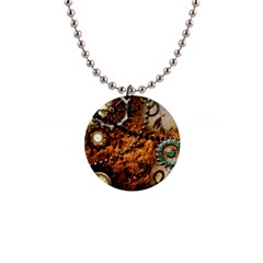 Steampunk In Noble Design Button Necklaces