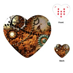 Steampunk In Noble Design Playing Cards (Heart)