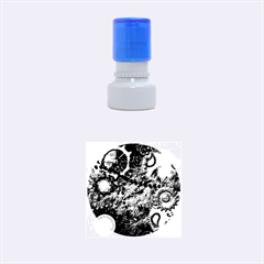 Steampunk In Noble Design Rubber Round Stamps (Small)