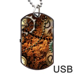 Steampunk In Noble Design Dog Tag USB Flash (Two Sides)