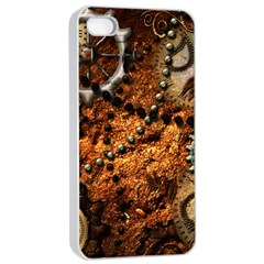 Steampunk In Noble Design Apple Iphone 4/4s Seamless Case (white)