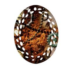 Steampunk In Noble Design Ornament (oval Filigree)