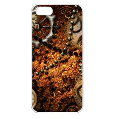 Steampunk In Noble Design Apple iPhone 5 Seamless Case (White)