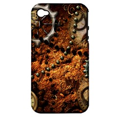 Steampunk In Noble Design Apple iPhone 4/4S Hardshell Case (PC+Silicone)