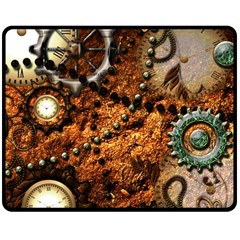 Steampunk In Noble Design Double Sided Fleece Blanket (Medium)