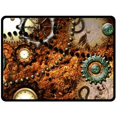 Steampunk In Noble Design Double Sided Fleece Blanket (Large)