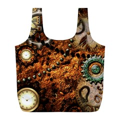Steampunk In Noble Design Full Print Recycle Bags (L)