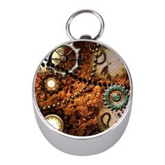 Steampunk In Noble Design Mini Silver Compasses