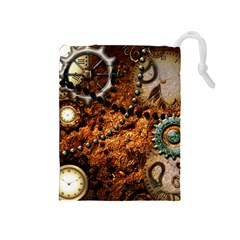 Steampunk In Noble Design Drawstring Pouches (Medium)