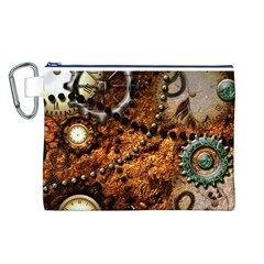 Steampunk In Noble Design Canvas Cosmetic Bag (L)