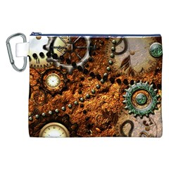 Steampunk In Noble Design Canvas Cosmetic Bag (XXL)