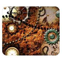 Steampunk In Noble Design Double Sided Flano Blanket (Small)
