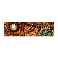 Steampunk In Noble Design Satin Scarf (oblong)