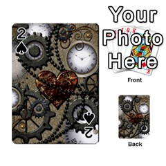 Steampunk With Clocks And Gears And Heart Playing Cards 54 Designs