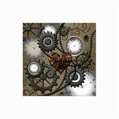 Steampunk With Clocks And Gears And Heart Collage 12  x 18