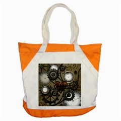 Steampunk With Clocks And Gears And Heart Accent Tote Bag