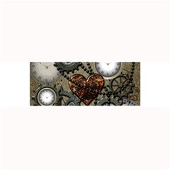 Steampunk With Clocks And Gears And Heart Large Bar Mats