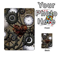 Steampunk With Clocks And Gears And Heart Multi-purpose Cards (Rectangle)
