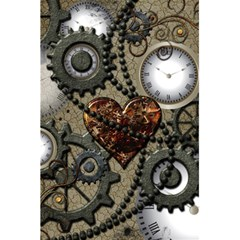 Steampunk With Clocks And Gears And Heart 5.5  x 8.5  Notebooks